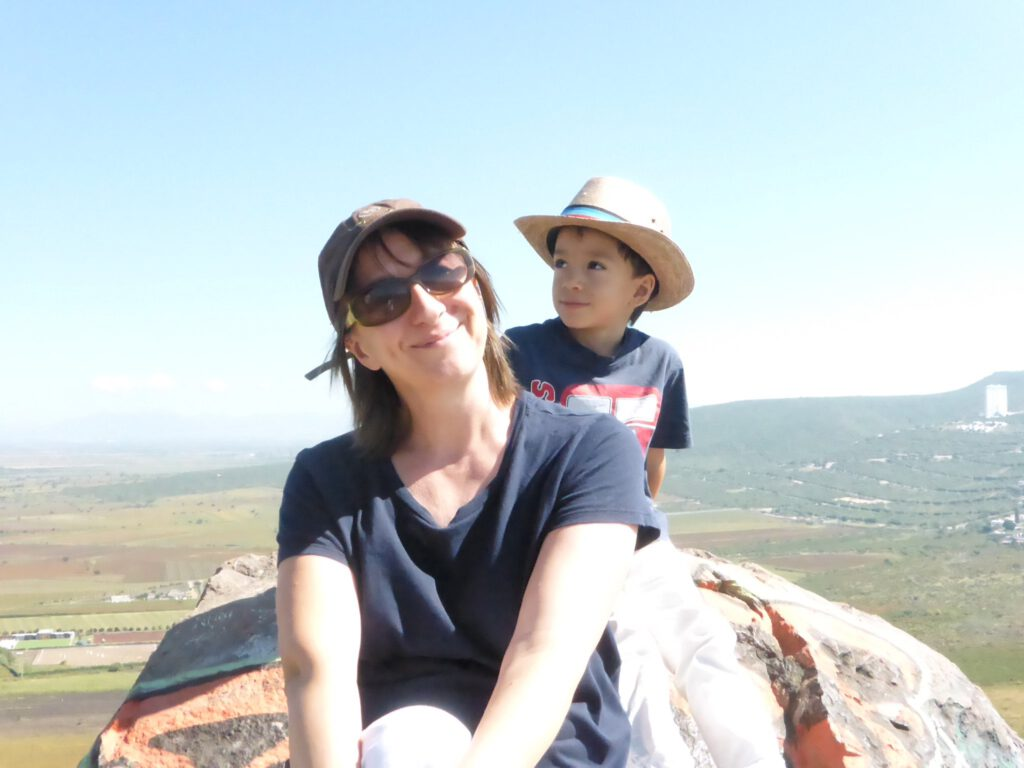 Jane and son in Mexico